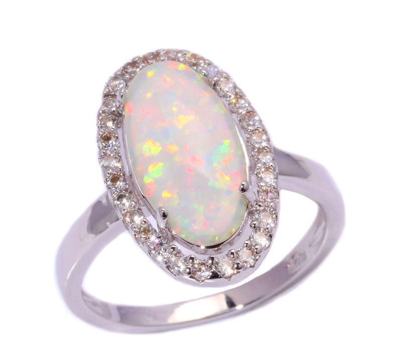 white fire opal cubic zirconia silver stamp wholesale