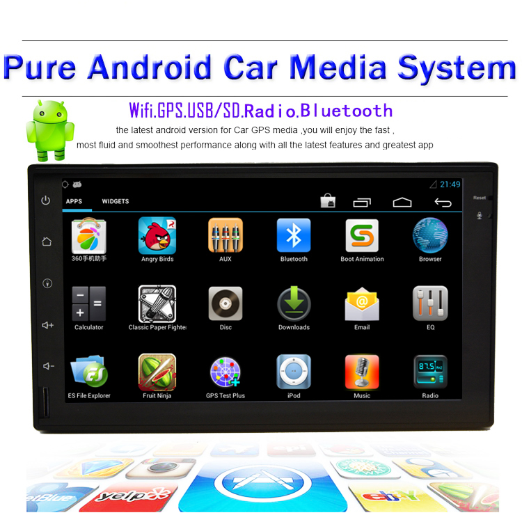 7inch Capacitive Car headunit Android 4.2 In Dash GPS Navigation Car PC Tablet 2 DIN Stereo NO-DVD mp3 Playter WIFI 3G Radio(China (Mainland))