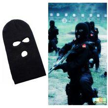 3 Hole Knitted Face Mask Balaclava Hat Ski Army Stocking Winter Cap Beanie Hood Summer(China (Mainland))