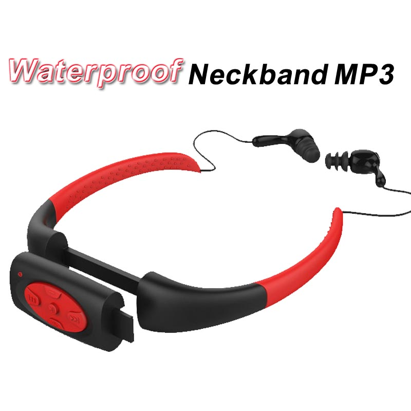 8GB Waterproof MP3 IPX8 Music Player Underwater Sports Neckband Swimming Diving with FM Radio Earphone Stereo Audio Headphone<br><br>Aliexpress