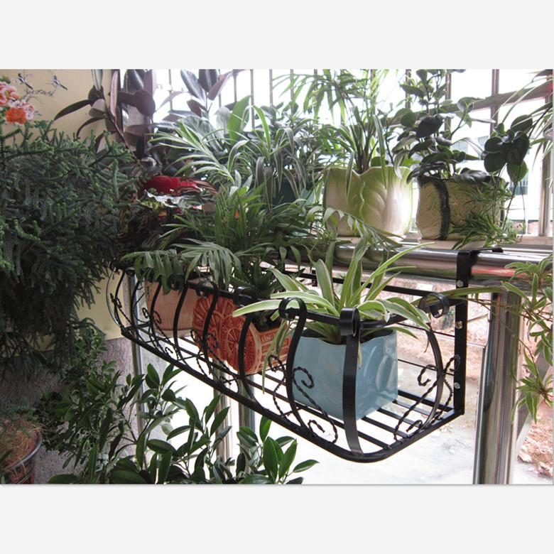 bande eisengitter rote blume h ngen balkon gel nder blumenampeln fensterbank gem se regal rack. Black Bedroom Furniture Sets. Home Design Ideas