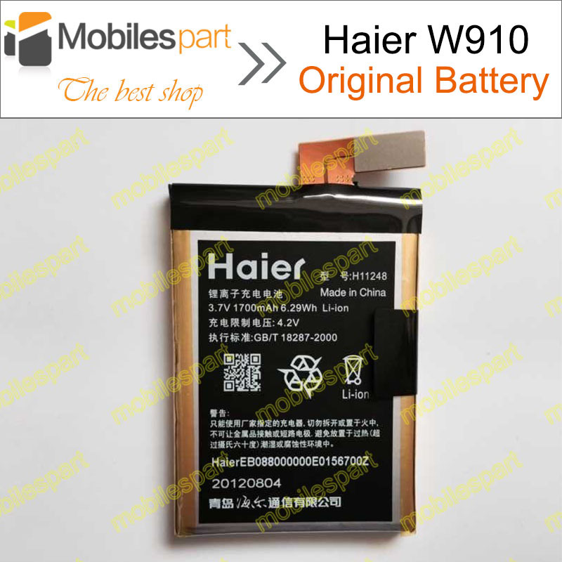 Гаджет  Haier W910 Battery  H11248 100% Original Replacement 1700mAH Back-up Battery for Haier W910 Smartphone in stock Free Shipping None Электротехническое оборудование и материалы