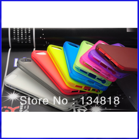 Hot selling Slim Matte frosting Transparent Cover Case For Apple iPhone 5 5G phone accessory 100PCS/ LOT DHL Free shipping(China (Mainland))