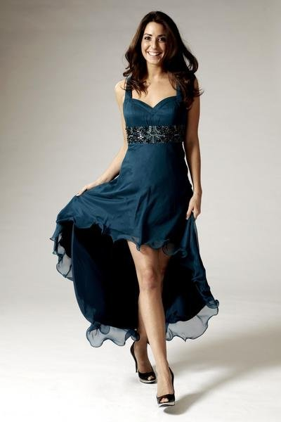 FREE SHIPPING Custom Made Silk sexy v neck with spaghetti straps hot sell evening dress