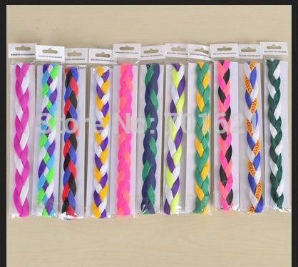 costom elastic braided headbands for young athletes playing basketball,volleyball,softball,dance,karate,and cheerleading free(China (Mainland))
