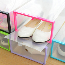 Buy Thickening Transparent Shoes Boxes Shoes Superposition Storage Box Home Storage Finishing Easy Installation Colorful for $8.45 in AliExpress store