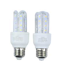 Buy Energy saving high power E27 SMD2835 LED Lamp 5W LED Light U Shape AC85-265V Led Corn Bulb Chandelier Candle Light free for $3.59 in AliExpress store