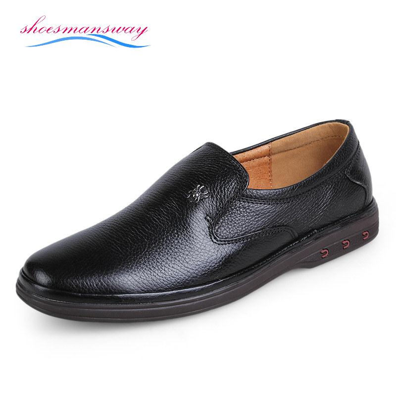 fashion design genuine leather mens brand shoes luxury