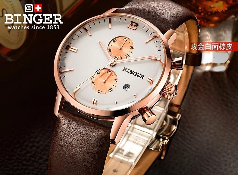 2016 Новая Мода Часы Женщины Женева Бренд Бингер Часы Мужчины Кварцевые Часы Золото Стали Relogio Masculino Relógio Feminino