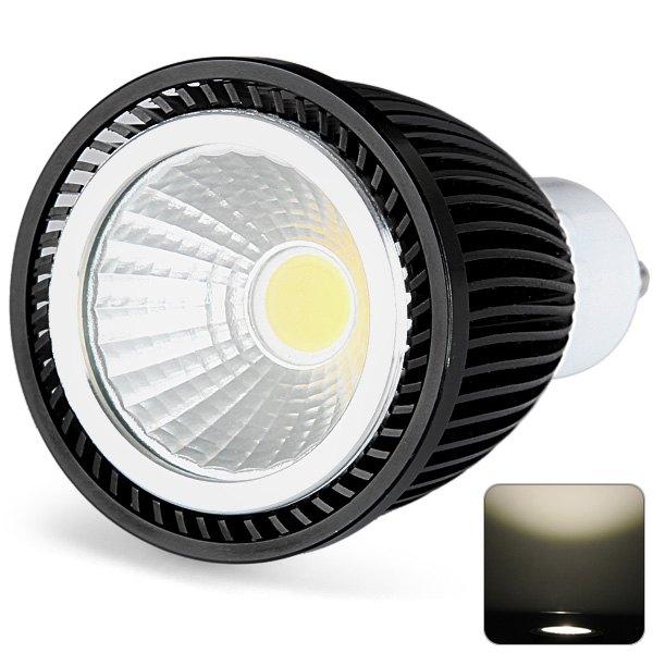 Big Sale Environmental Gu10 Led Bulb 7W 700Lm Warm White Lamp Ac 85-265 Globe Lighting Indoor Pot Light With Black Cover(China (Mainland))