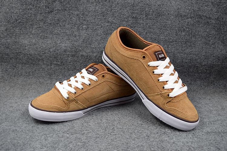 Фотография 2016 Size 5.5-9.5 Boys GLOBE TB Skates Board Shoes Light Brown Anti-Fur Street Shock-Absorbant Footwear