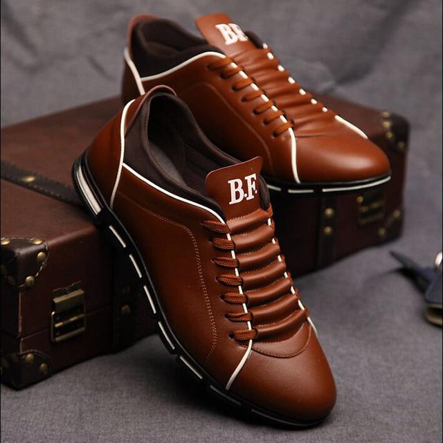 Осенью 2015 Новой Англии мужская тенденция мужская обувь повседневная обувь кожаная ...