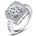 High Quality Shinning White Sapphire 925 Sterling Silver Wedding Bridal Rings For Women Size 5 6
