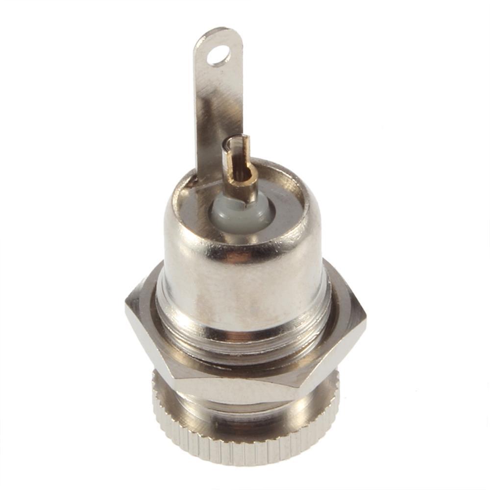 1Pcs DC Power Jack Socket Female Panel Mount Connector 5 5 mm x 2 1mm High