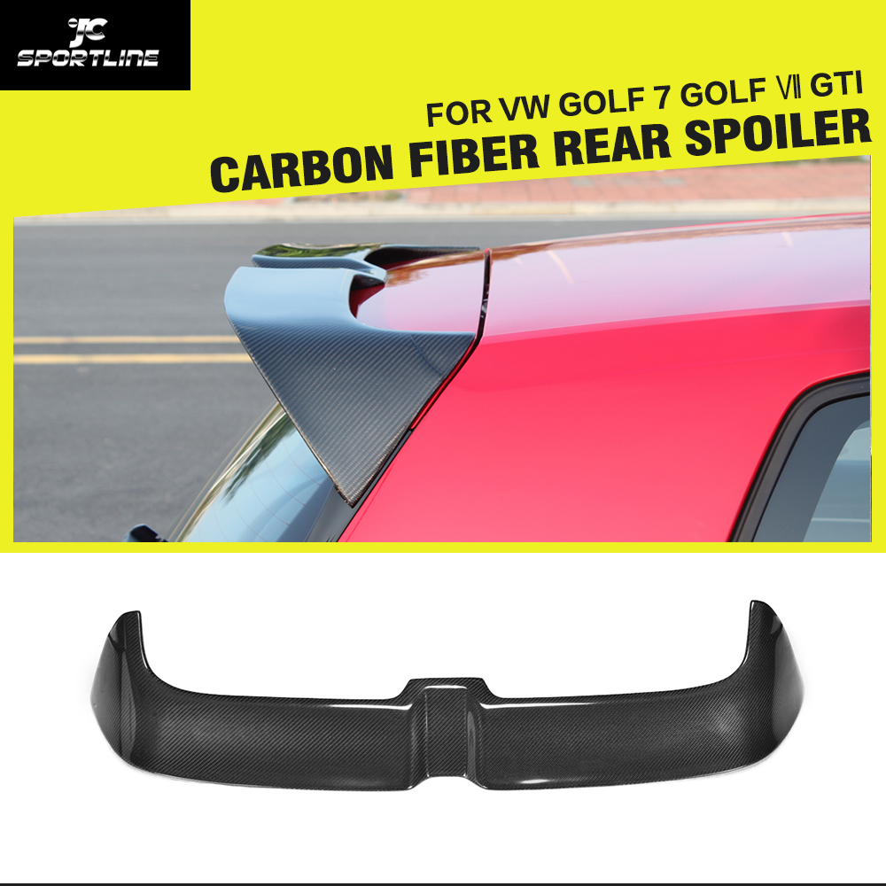 golf mk7 car styling carbon fiber rear spoiler lip. Black Bedroom Furniture Sets. Home Design Ideas