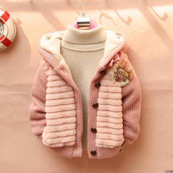 hot sale!! new 2014 spring autumn and winter child outerwear velvet Plush children coat children clothing girl jackets  outwear.