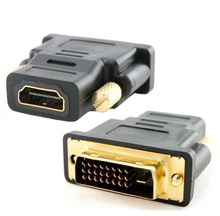 1Pcs 24+1 DVI Male to HDMI Female Converter HDMI to DVI adapter Support 1080P for HDTV  LCD