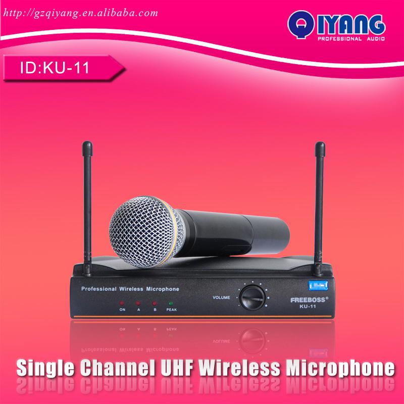 FREEBOSS KU-11 Handheld Mic fm Transmitter Professional Karaoke UHF Wireless cordless Microphone System consumer electronics(China (Mainland))