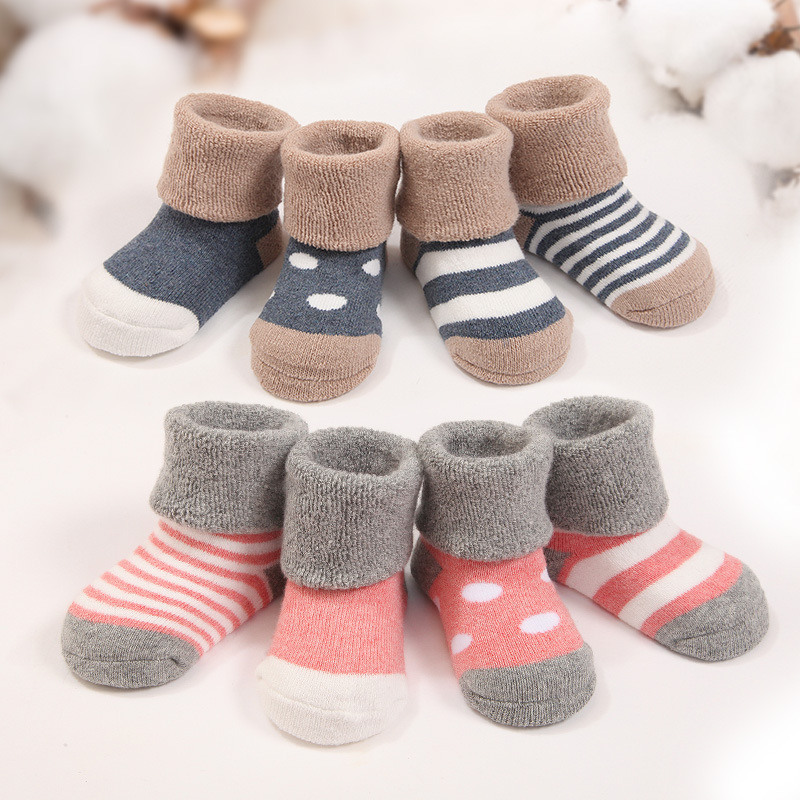 0-3Y New Born Warm Baby Socks 100% Cotton Outdoor Carters Baby Girl Boy Socks Christmas Socks Kids 4PCS/Lot<br><br>Aliexpress
