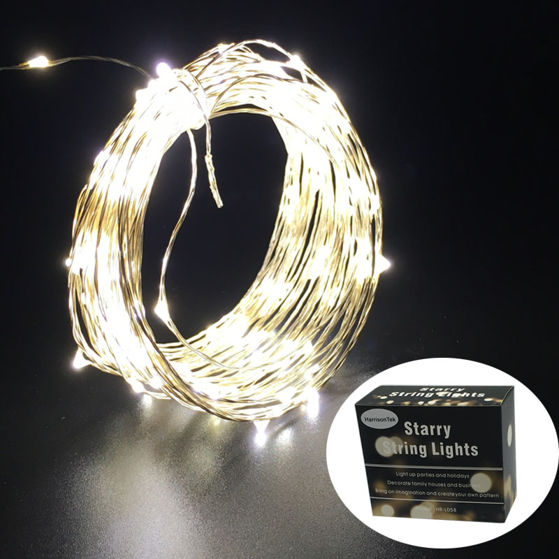 10M 100 DC12V Yellow /warm white silver copper wire micro string lights lighting starry decor holiday lamp +110v 220v 1A adapter<br><br>Aliexpress