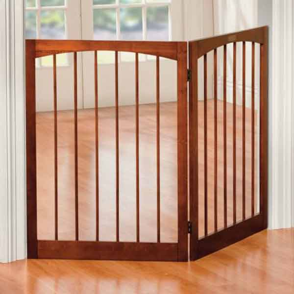 Indoor Pet Safety Gate Wooden Folding 2 Panel Play Yard