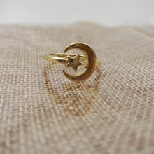 Crescent Half Moon and Star Ring for Holidays Christmas Thanksgiving New Year Gift(China (Mainland))