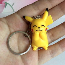 100 Pokemon Go Keychains Figures Pikachu Cute Anime Metal Key Chains For Women llaveros Sleutelhanger Chaveiro Lots Wholesale