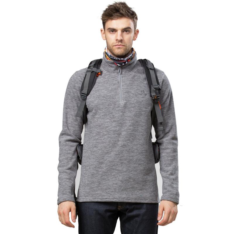 2016 Tectop men sport fleece jacket cationic polar fleece thermal keep warm pullover leisure for font