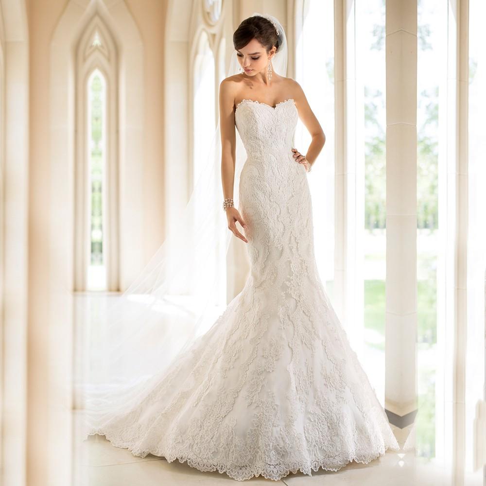 Vestido Casamento Русалка Свадебные Платья 2016 Sexy Vestidos De Noivas 2016 Sexy Свадебные Платья Дешевые Кружева Винтаж Свадебное Платье