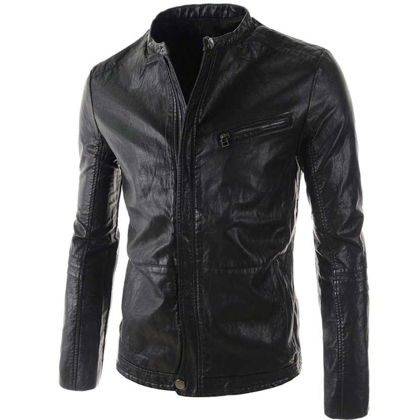 Mens leather jackets are cool, such as leather bomber jackets and leather jackets with hood. About the color, brown jackets sell very well, and red leather jacket is a bold attempt. In winter, besides leather jackets, you can choose warm quilted, bubble, wool, cotton and fur jackets.