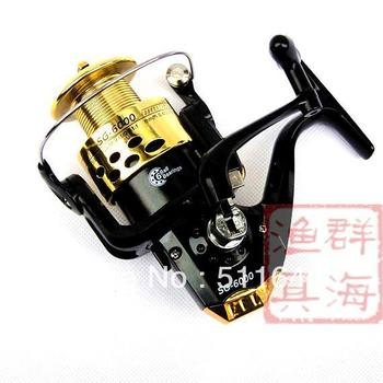 """Free shipping Fishing reels Spinning reel """"5.1:1/6BB"""" QH SG6000 fishing tackle,Color:Silver/Black"""