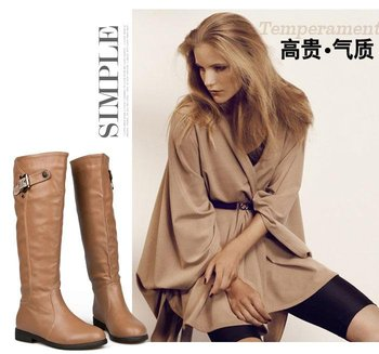 Free shipping.woman fashion leather boots.New brand shoes.winter boots