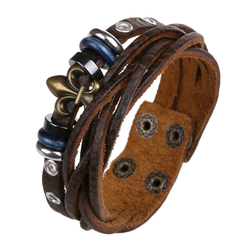 Punk accessories manufacturers sellin leather bracelet wholesale handmade jewelry sell like hot cakes Jan and South Korea act th(China (Mainland))
