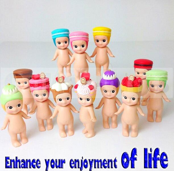 1 sonny angel Cake Puffs Cupid 8cm Kewpie Doll Macaron Angel Baby Mini Figure Cute Figurine Toys Kids - Online-gifts store