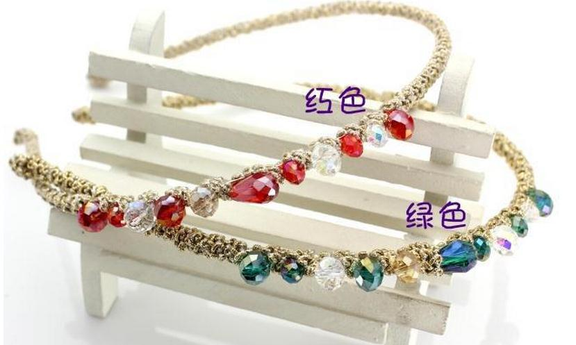 6pcs Crystal Alice Band+6pcs Crystal Barrette Clips. Fashion Woman Boutique Hair Acessories. Free shipping