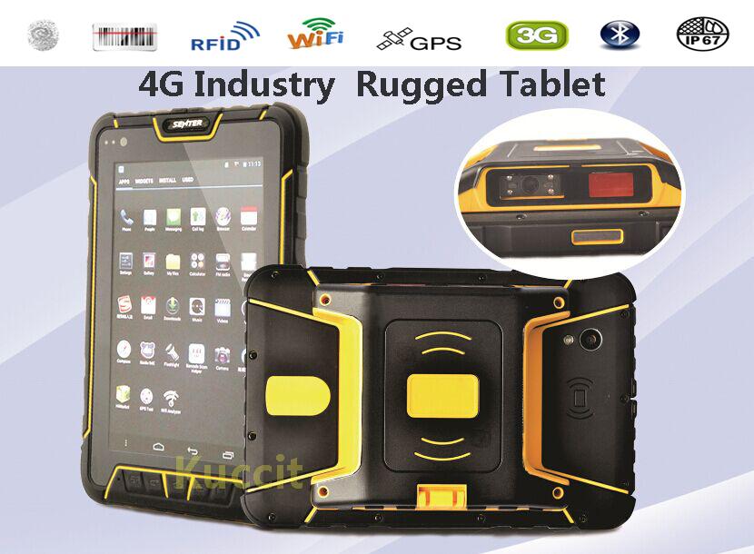 "4G LTE 2G RAM Android Rugged tablet PC 7"" Shockproof Waterproof mobile phone GPS Fingerprint Reader 2D barcode scanner RFID SDK(China (Mainland))"