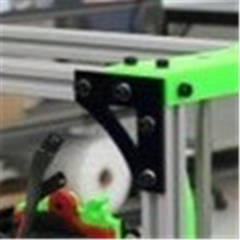 LulzBot TAZ 3D printer DIY aluminum alloy metal Frame Connector v2.0 profile corner plate black color Anodized 5mm thick