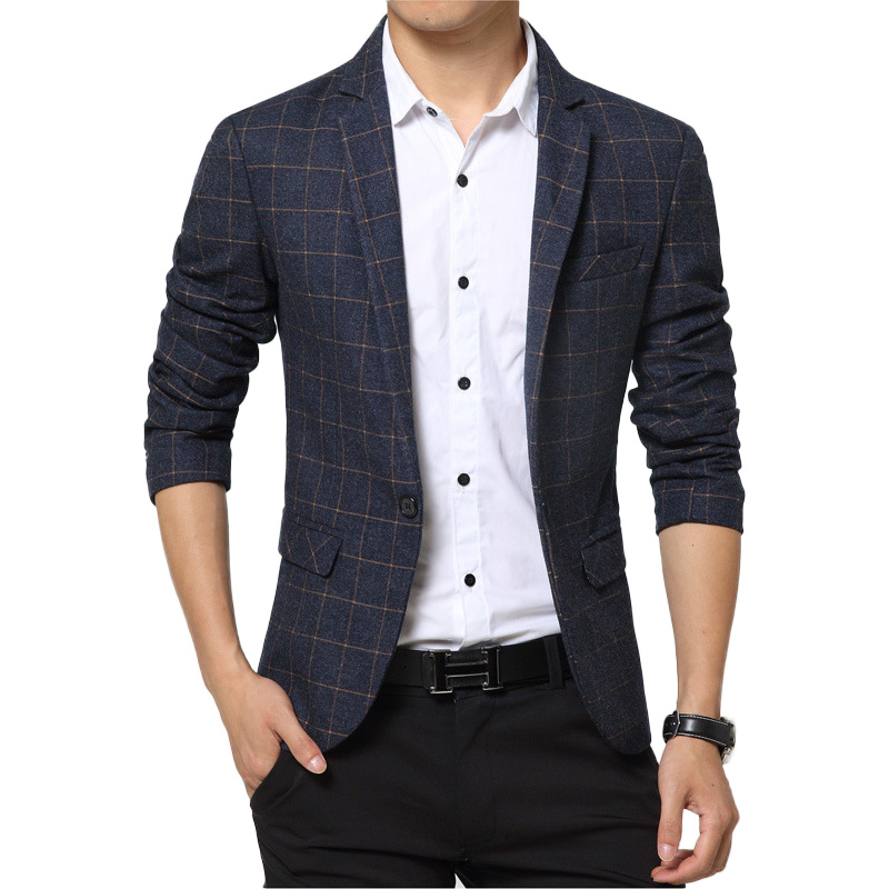 men casual blazer 2016 Spring Mens Suits Blazer Single Button Men ...