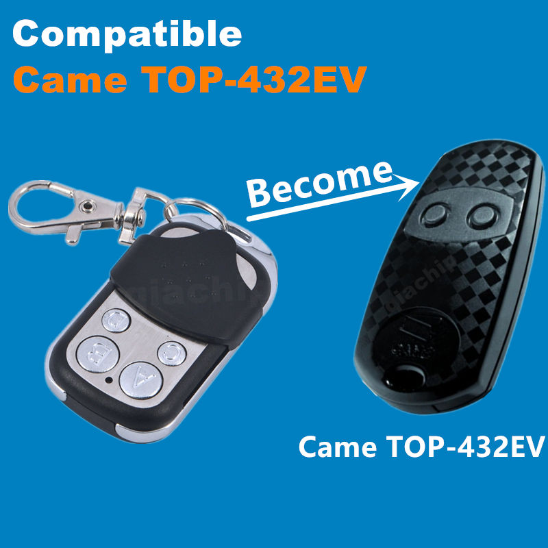 433 Copy CAME TOP-432EV Duplicator 433.92 mhz remote control Universal Garage Door Gate Fob Remote Cloning 433mhz fixed code(China (Mainland))