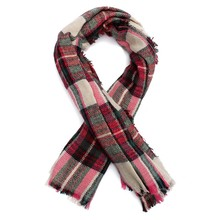 New Winter Vintage Wool Blend Blanket Oversized Plaid Women's Scarf Long Large Warm Ladies Wrap Tartan Soft Shawl Plaid Pashmina