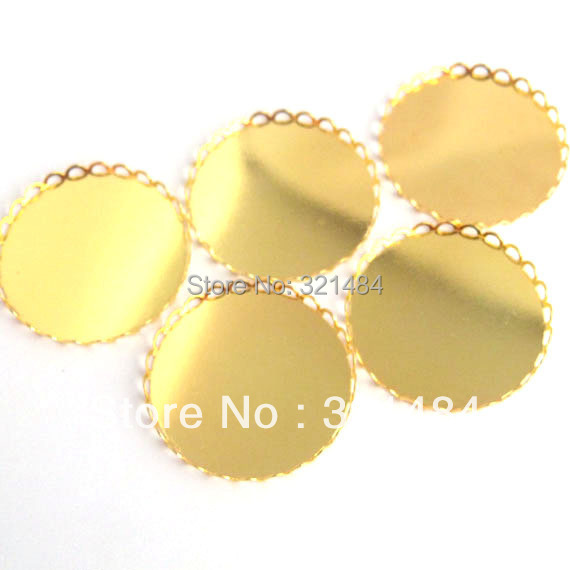 Factory Lowest Price 1000pcs 30mm Bracelet Pendant Ring Earring DIY Cabochon setting Gold Plated Lace Base Blank Link Connector<br><br>Aliexpress