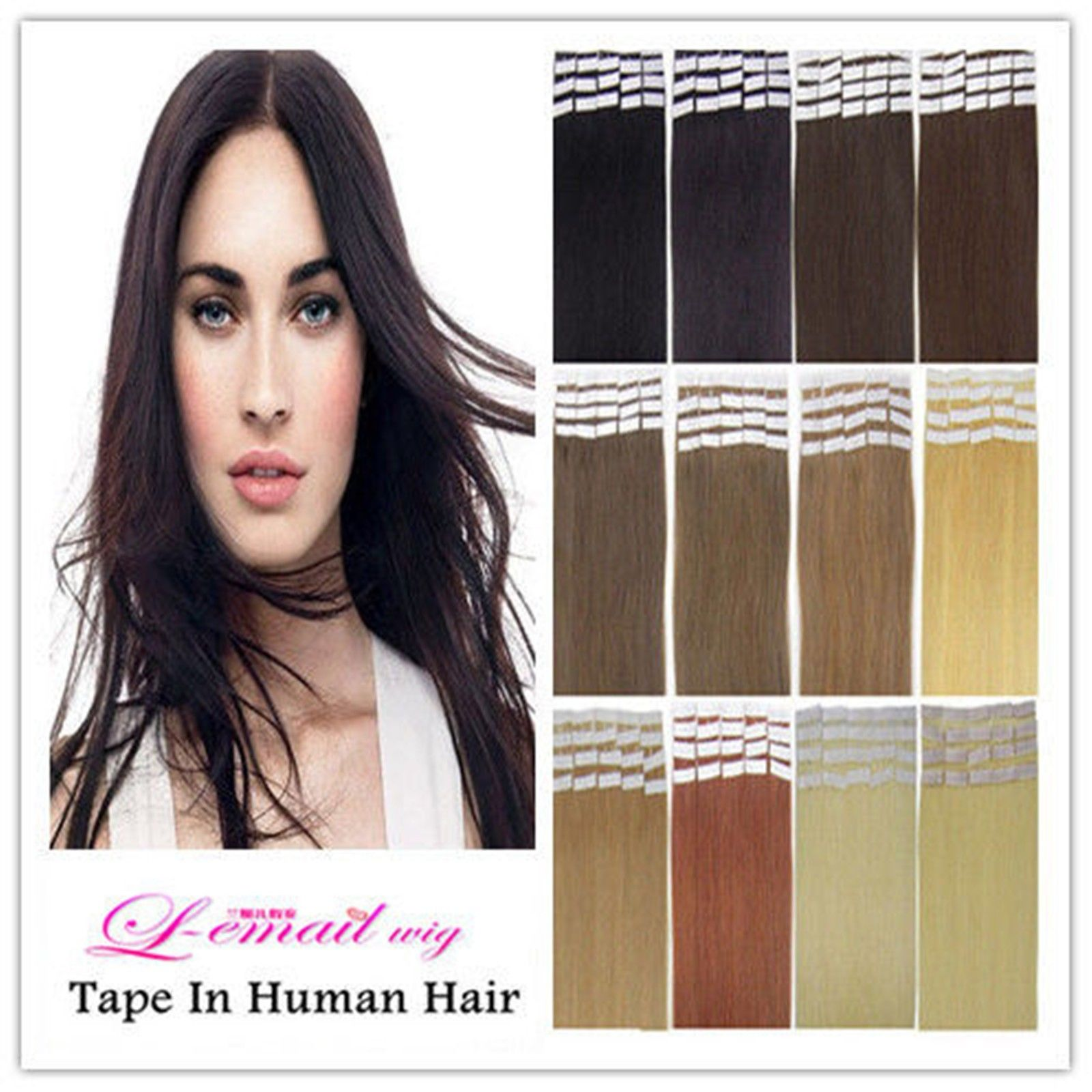High Quality Dark Ash Blonde tape india human 18 inch 2.5g/piece Straight skin weft hair extensions(China (Mainland))