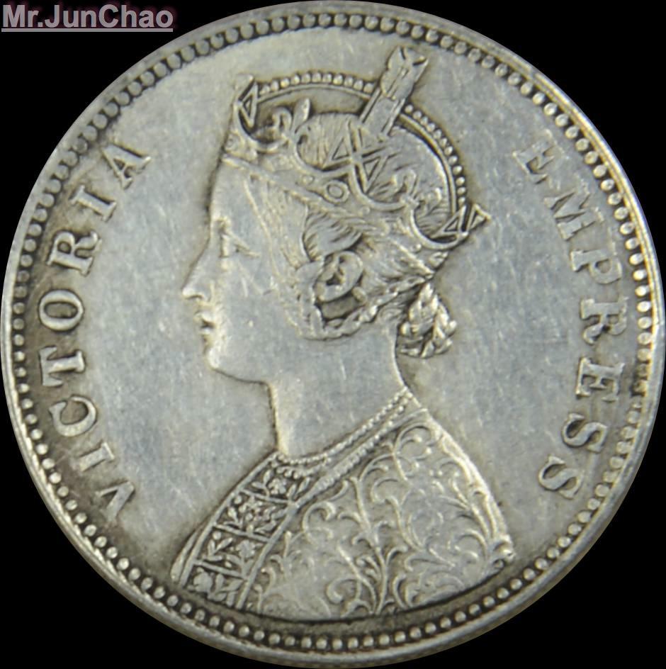 Mr J 1901 India Coin 90 Silver British Victoria Empress
