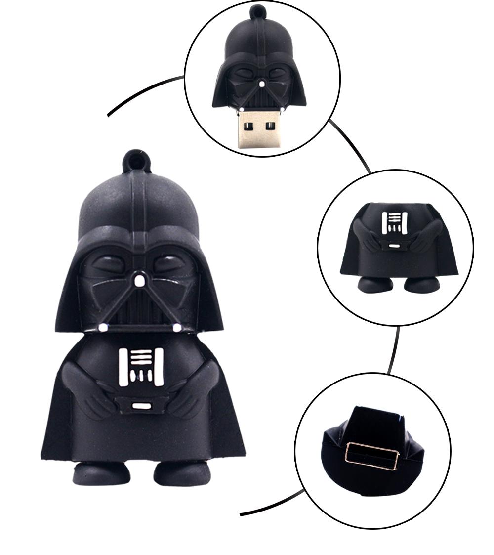 Darth Vader usb flash drive 32GB 64GB pen drive 4GB 8GB 16GB Star Wars black man pendrive stick disk flash memory real capacity(China (Mainland))
