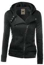 New Fashion Winter Jacket Women Run Qing Zip Black Slim Fit Sweater Jumper Hoodies Coat female jacket free shipping D382