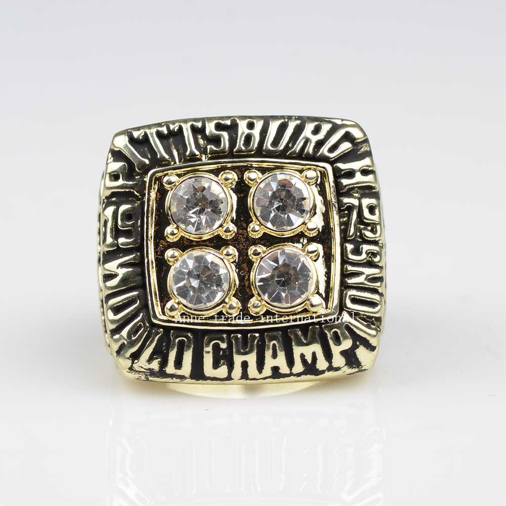 factory sales 1979 Super Bowl Replica Pittsburgh Steelers Championship ring for fans free shipping(China (Mainland))