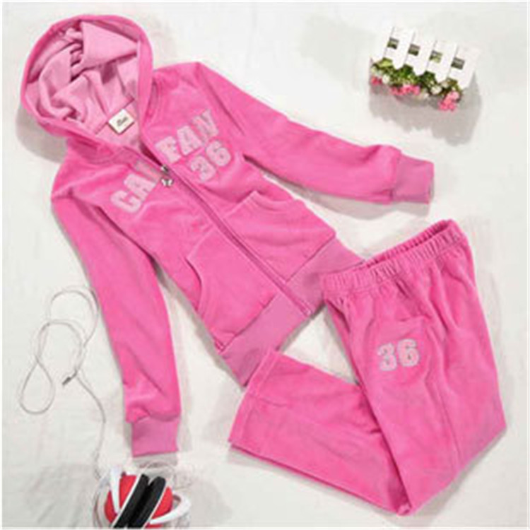 Hot Selling Kids Velvet Clothing Suits for Little Girls Hooded Fashion Sets, Free Shipping A2836(China (Mainland))