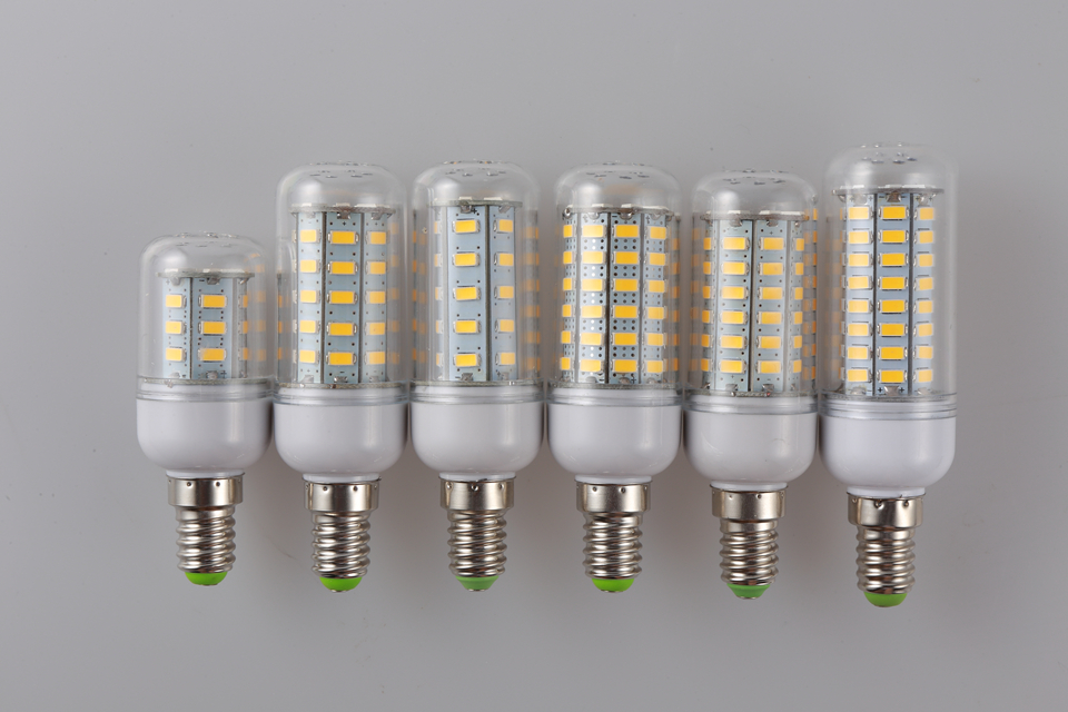 Super bright E14 LED Bulb light Replace CFL 5W 12W 15W 20W 25W 30W 220V 240V Spotlight 5730SMD 24 36 48 56 69 72 LEDs lamp