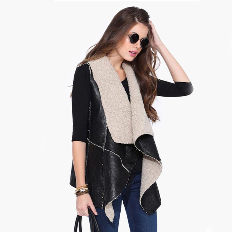 Женщины жилет зимой 2015 года новые женская мода дикий без рукавов трава кожа мода жилеты женские 6394