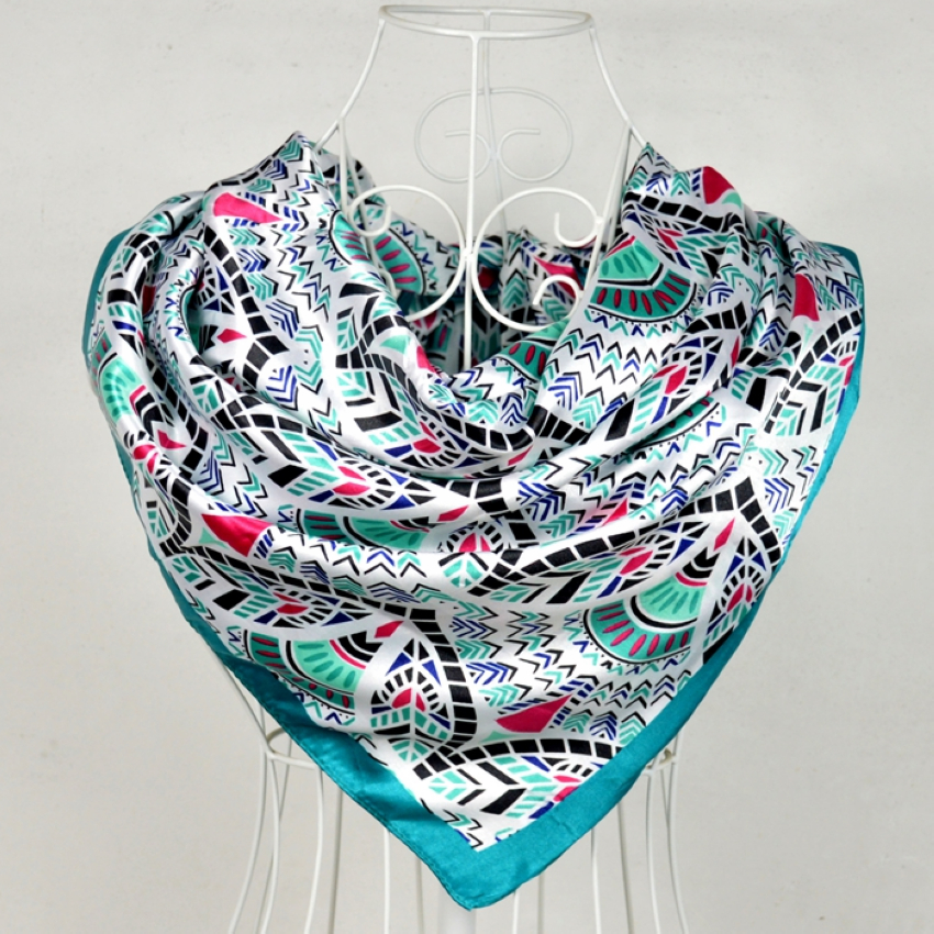 Square Silk Scarf Printed